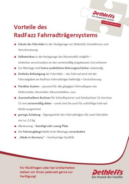 RadFazz-Fahrradträger Schienenlänge 80 cm - inkl. Befestigungsmaterial